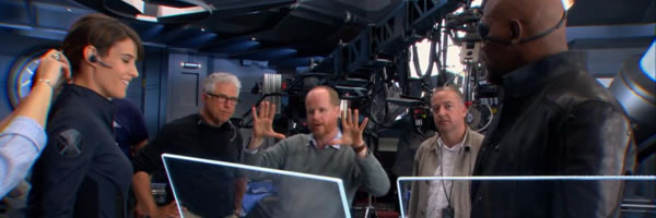 avengers cobie smulders joss whedon samuel l jackson set photo slice 01 Say What?! Whedon May Or May Not Return For Avengers 3