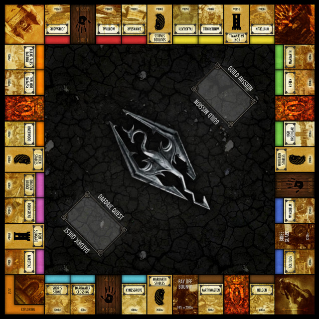 skyrim monopoly 1 Skyrim Monopoly...Fus Ro Dah!!!