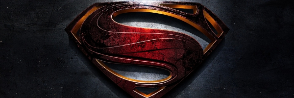 Man of Steel Symbol Banner New BATMAN Easter Egg Spotted in MAN OF STEEL.  Is That The BURTON Logo?