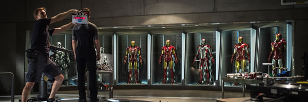 iron man 3 banner slice Tony Starks Brand New Armor from Iron Man 3