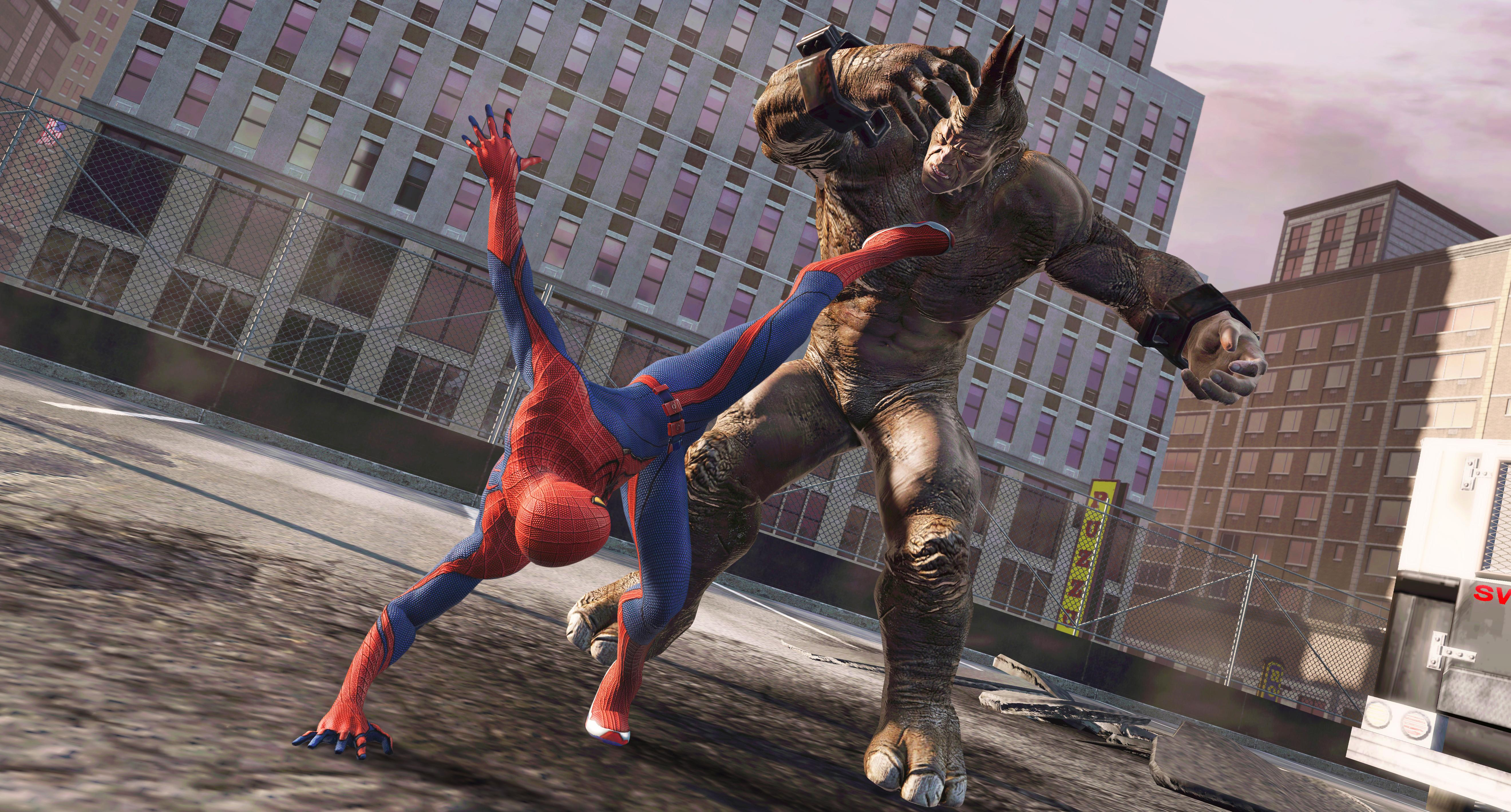 ASM Spidey Keeps Rhino at Bay The Amazing Spider Man: Xbox 360 Review