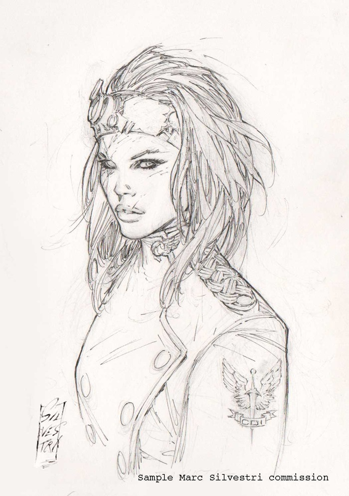 Cyber Force 2012 Sketch 08 EXCLUSIVE: Marc Silvestri Talks WITCHBLADE, THE DARKNESS, THINK TANK Movies and more!