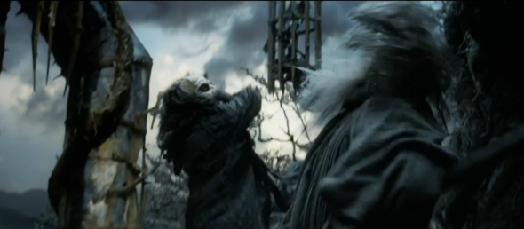 Screen shot 2012 08 05 at 9.28.23 PM 590x258 Does Gandalf Fight Sauron In THE HOBBIT Trailer?