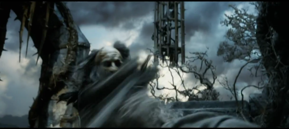 Screen shot 2012 08 05 at 9.28.48 PM 590x264 Does Gandalf Fight Sauron In THE HOBBIT Trailer?