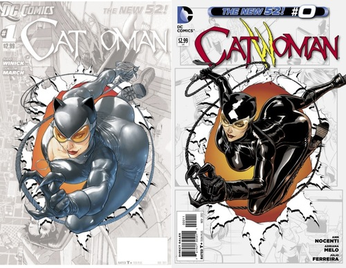 Catwoman0CoverComparison Catwoman Gets A Breasts Reduction