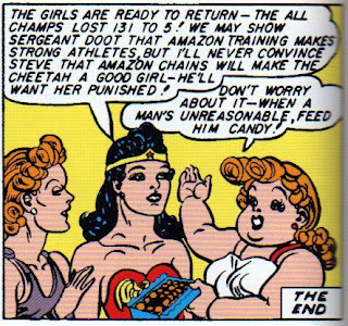 Wonder Woman feed a man Candy How to Handle a New WONDER WOMAN TV Show