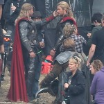 thor the dark world chris hemsworth 10 150x150 Chris Hemsworth Bashing Faces on Set of THOR THE DARK WORLD