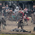 thor the dark world chris hemsworth 17 150x150 Chris Hemsworth Bashing Faces on Set of THOR THE DARK WORLD