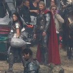 thor the dark world chris hemsworth 8 150x150 Chris Hemsworth Bashing Faces on Set of THOR THE DARK WORLD