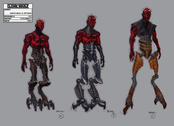 Maul Leg Concept Art 590x428 Exclusive Stars Wars Clone Wars Season 4 Concept Art