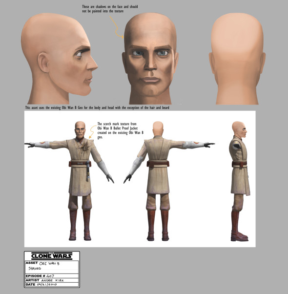 Obi Wans Shaved Head 590x602 Exclusive Stars Wars Clone Wars Season 4 Concept Art