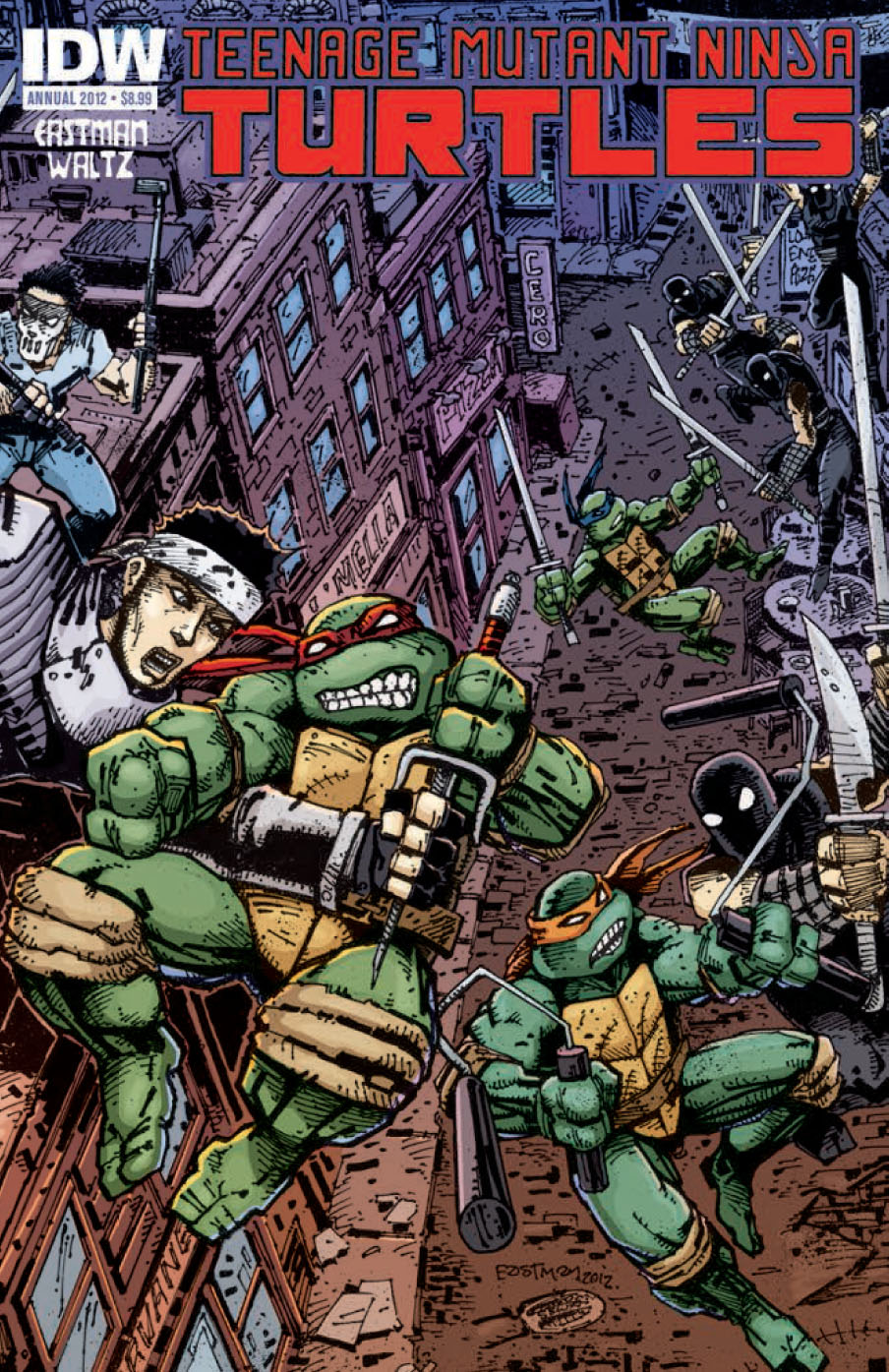 TMNT Annual 1 C Teenage Mutant Ninja Turtles Annual 2012 Review