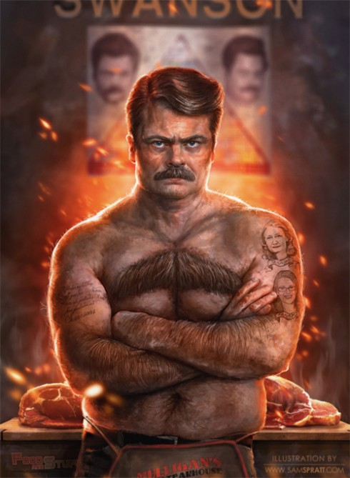 ron swanson illustrated 23235 1317930674 14 490x669 First Look at THE HOBBIT Villain Bolg