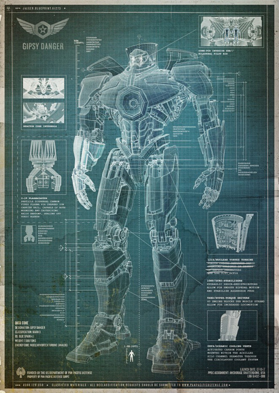 Pacific Rim Robot Blueprint PACIFIC RIM Trailer Release Date and Sneak Peaks