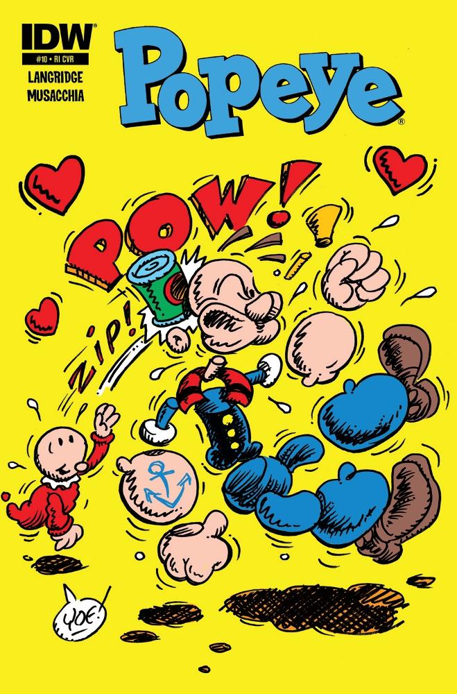 Popeye 10 CvrRI IDW PUBLISHING Solicitations for FEBRUARY 2013