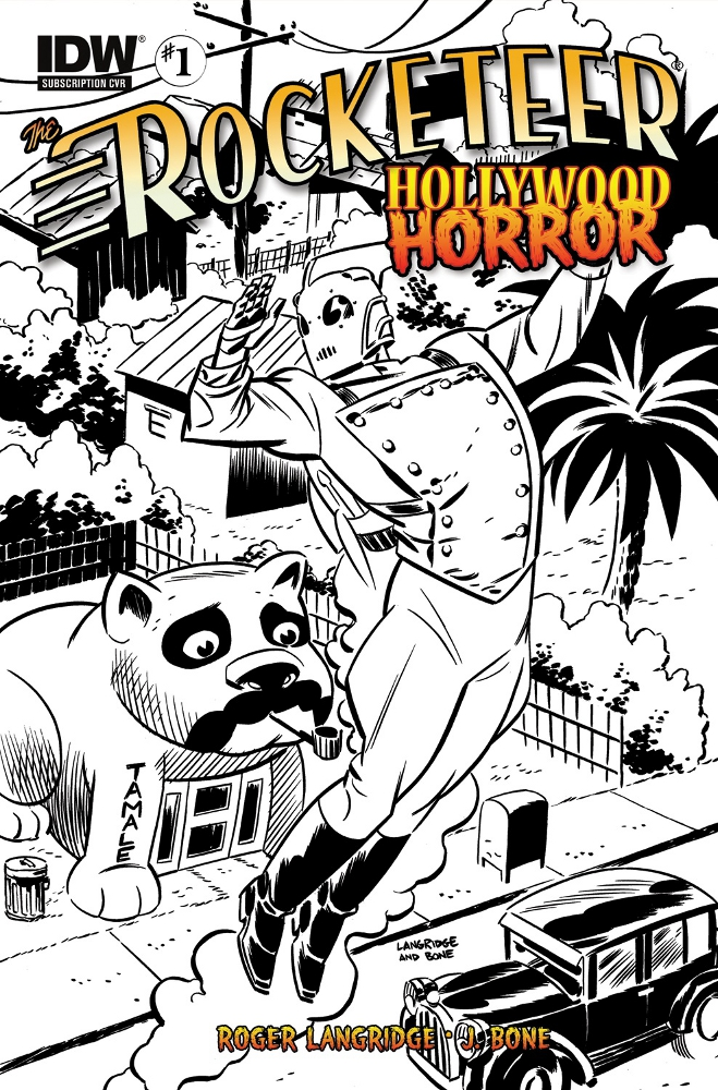 Rocketeer HollywoodHorror 01 CvrSUB IDW PUBLISHING Solicitations for FEBRUARY 2013