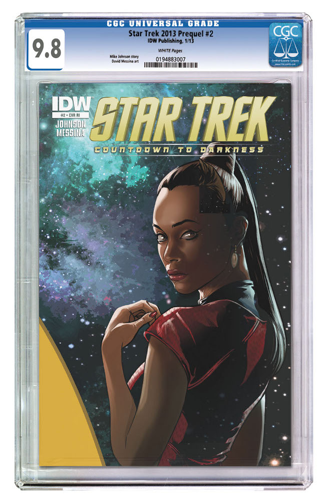 StarTrek CountdowntoDarkness 02 CvrRI CGC IDW PUBLISHING Solicitations for FEBRUARY 2013