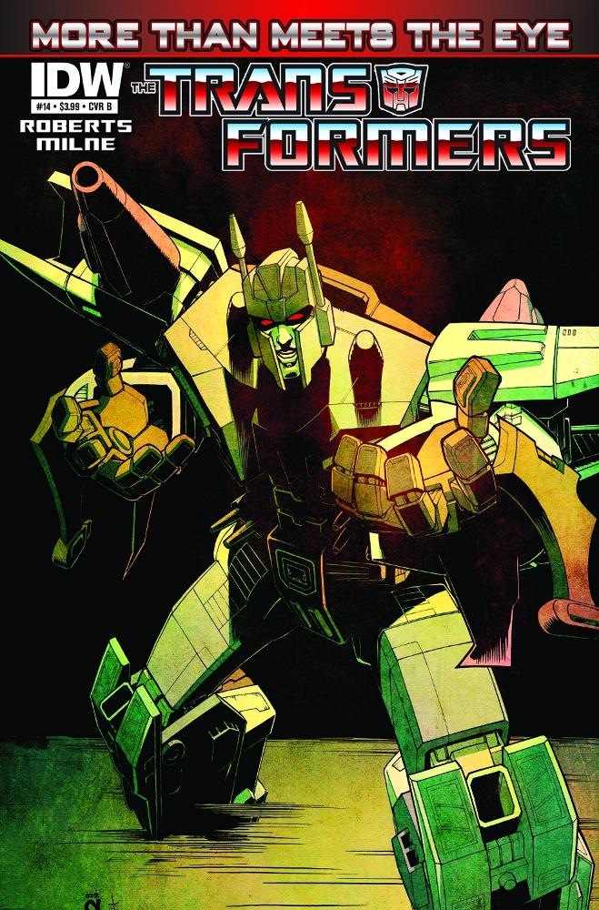Transformers MoreThanMeetstheEye 14 CvrB IDW PUBLISHING Solicitations for FEBRUARY 2013
