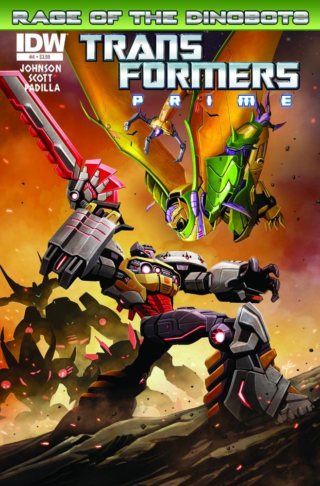 Transformers Prime RageoftheDinobots 04 CvrA IDW PUBLISHING Solicitations for FEBRUARY 2013