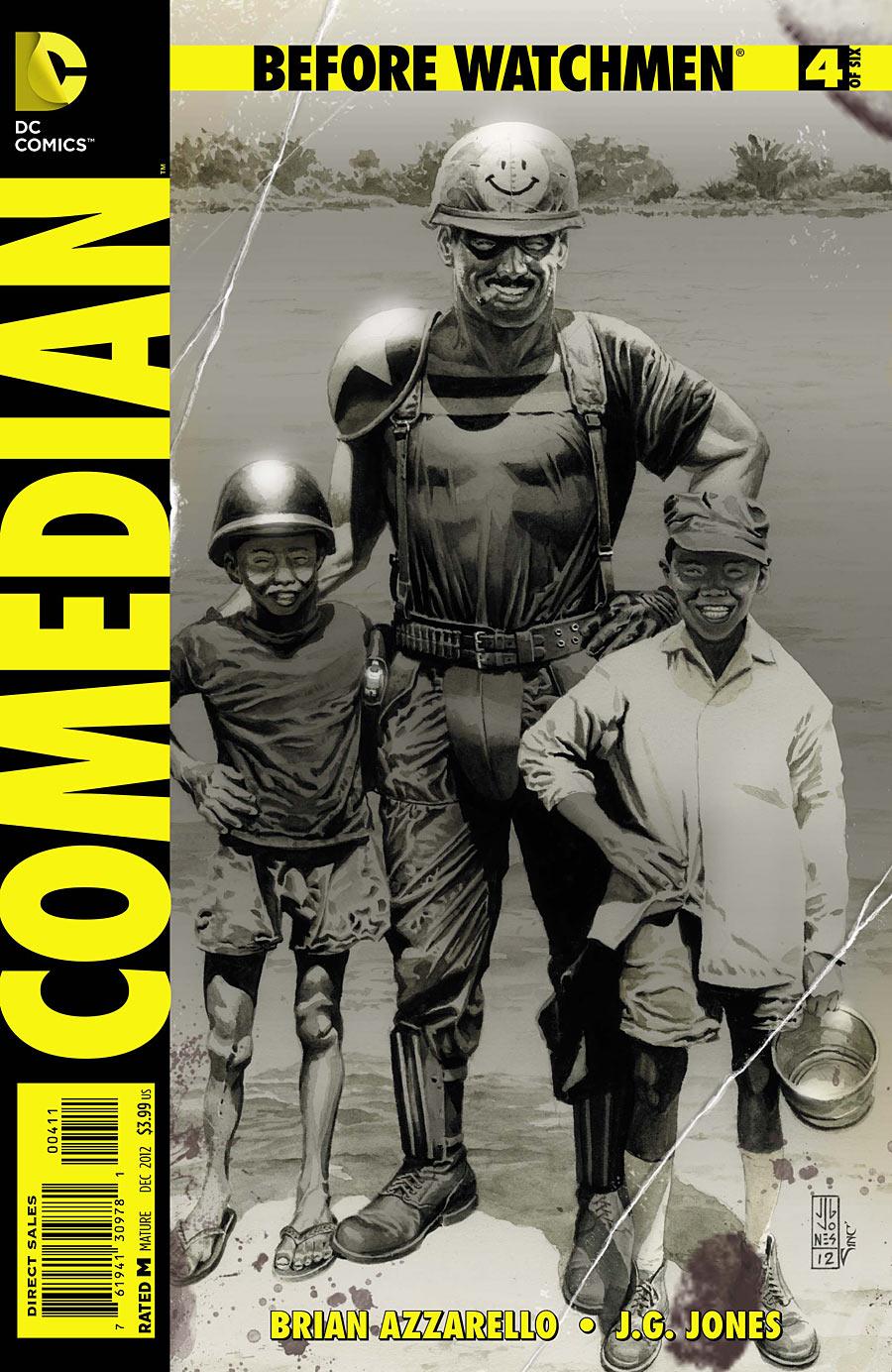 Before Watchmen Comedian 4 C Before Watchmen: Comedian #4 Review