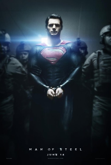 Man of Steel Poster 472x700  Joseph Gordon Levitt Wont Cameo in MAN OF STEEL