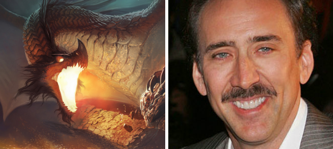 nicolas cage smaug Drunk Casting: THE HOBBIT
