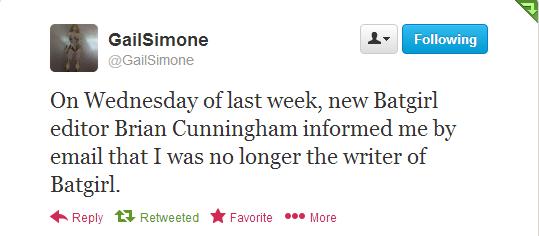 tumblr mes4ltoixz1qebq00o1 1280 Writer Gail Simone Kicked Off BATGIRL!!!