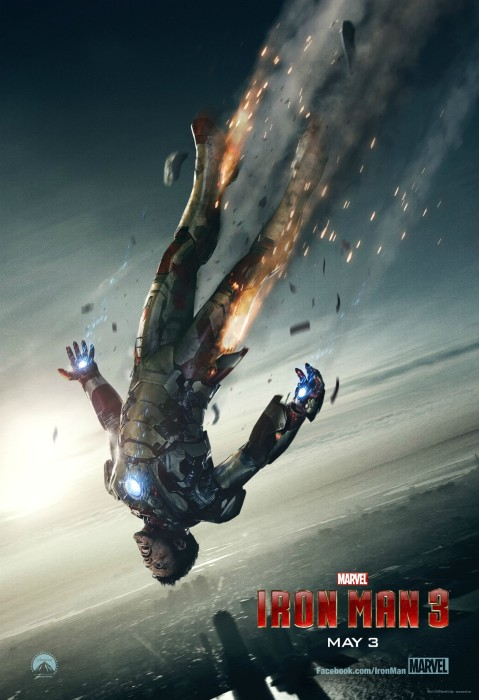 Iron Man 3 Poster 2 479x700 Tony Stark Hurtles Towards Earth in Latest IRON MAN 3 Poster