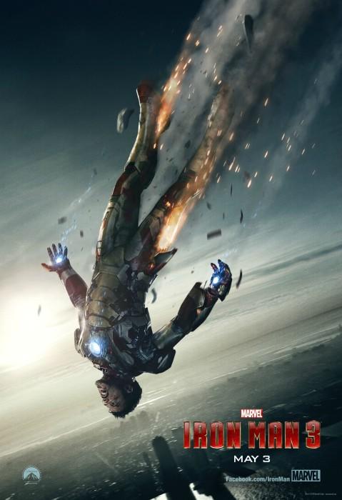 Iron Man 3 Poster 2 479x700 Tony Stark Hurtles Towards Earth in Latest IRON MAN 3 Poster