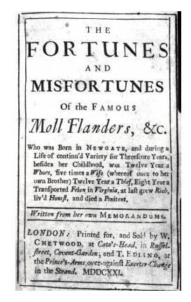 Moll Flanders title page Can We Expect Vice President Biden to Convene a Hearing to Study the Influence of Novels on Real World Violence?