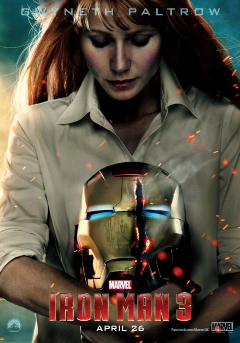 iron man 3 poster pepper potts 490x700 Chinese Receive Their Own Special Version of IRON MAN 3