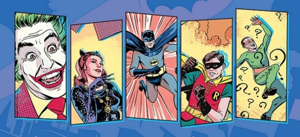 batman 66a 590x269 Holy Awesomeness, BATMAN! DC Launches Comic Based on 60s Show