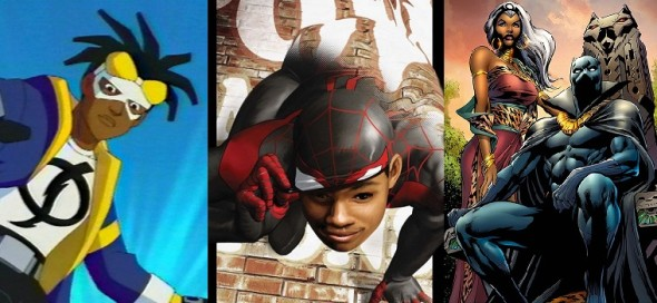 black heroes 590x272 We Have The Power To Change MARVEL and DC Comics: Support Diversity, Support Miles!