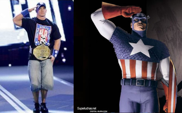 john cena captain america 2 590x368 TOP 5 Wrestlers Who Would Make Way Better COMIC CHARACTERS Than Batista!