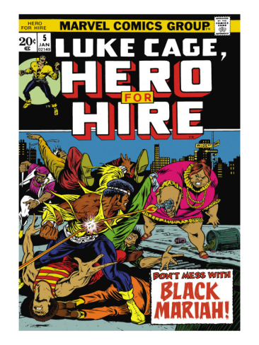 marvel comics retro luke cage hero for hire comic book cover 5 black mariah  i G 51 5129 UVKEG00Z RACE, COMICS, and MOVIES: Why Race Matters
