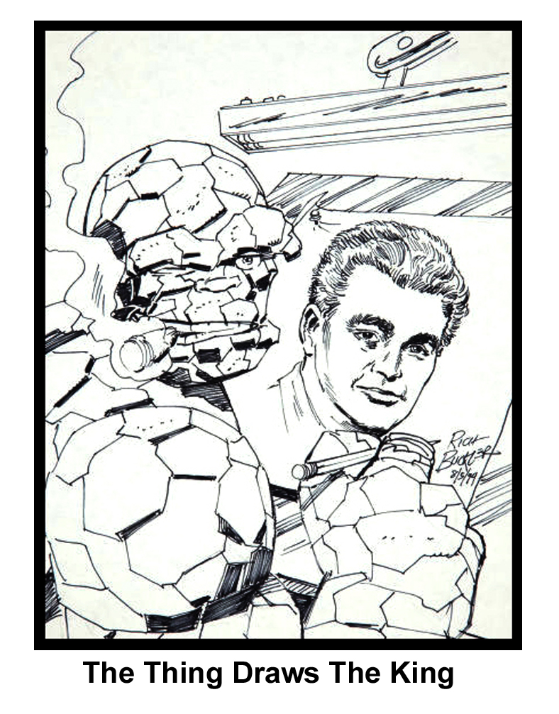 JACK KIRBY Drawn By THE THING With Great Chutzpah Comes Great Responsibility: IS THE THING REALLY JACK KIRBY?