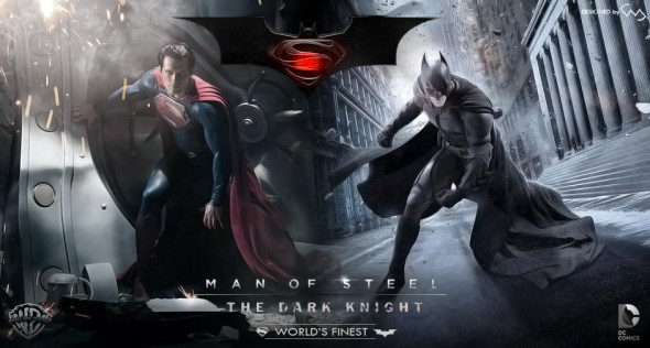 man of steel and the dark knight 590x316 Oi BALE Dust Off The Cowl, CAVILL Wants BATMAN SUPERMAN Team Up!