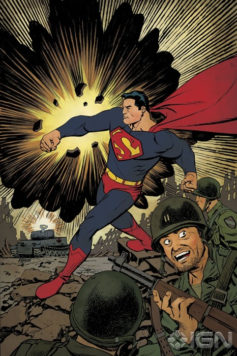 variant Dave Johnson 466x700 DC Attacks Fans With Superman Unchained Variant Covers Celebrating Superman Turning 75.