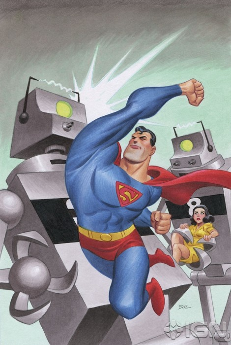 variant bruce timm 470x700 DC Attacks Fans With Superman Unchained Variant Covers Celebrating Superman Turning 75.