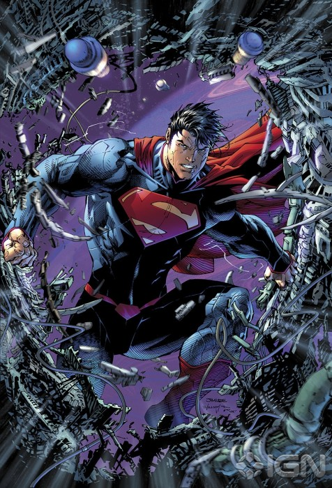 variant digital deluxe cover by Jim Lee 476x700 DC Attacks Fans With Superman Unchained Variant Covers Celebrating Superman Turning 75.