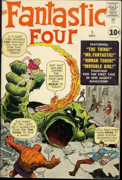 ff 1 With Great Chutzpah Comes Great Responsibility: JACK KIRBY VS. MR. FANTASTIC