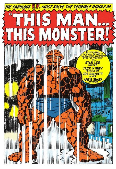 jack kirby this man this monster splash With Great Chutzpah Comes Great Responsibility: JACK KIRBY VS. MR. FANTASTIC