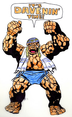 jewish thing davening With Great Chutzpah Comes Great Responsibility: JACK KIRBY & THE THING  2 NICE JEWISH BOYS