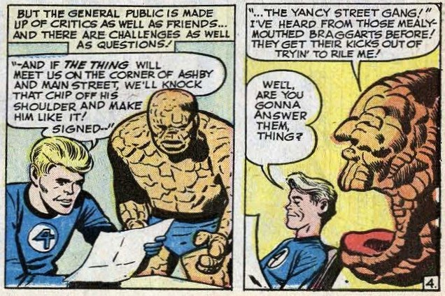yancy st gang With Great Chutzpah Comes Great Responsibility: JACK KIRBY & THE THING  2 NICE JEWISH BOYS