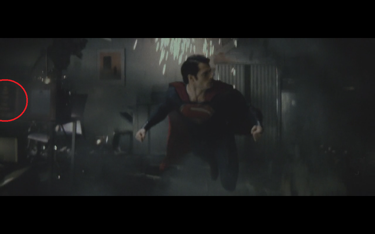 batman easter egg man of steel New BATMAN Easter Egg Spotted in MAN OF STEEL.  Is That The BURTON Logo?