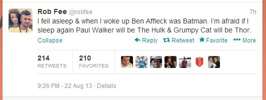 Tweet 4 Forget Batman v Superman   Its All About Affleck v Bale