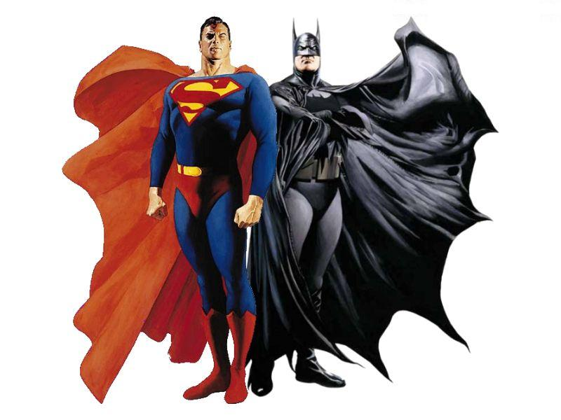 Alex Ross Batman Superman Iconic Image BATMAN VS SUPERMAN Writer Says Superman Wins the Fight