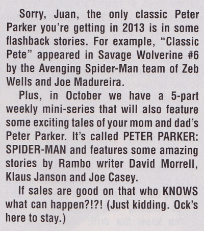 parker return Peter Parker Returns In The Relaunched AMAZING SPIDER MAN  This is Bullcrap!