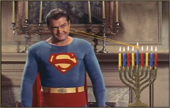 HappyHanukkah superman1 590x375 Learn About Chanukah Through Comics