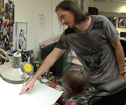 Marc Silvestri at Work EXCLUSIVE: Marc Silvestri Talks WITCHBLADE, THE DARKNESS, THINK TANK Movies and more!
